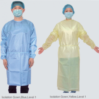7 level 1 Isolation gown